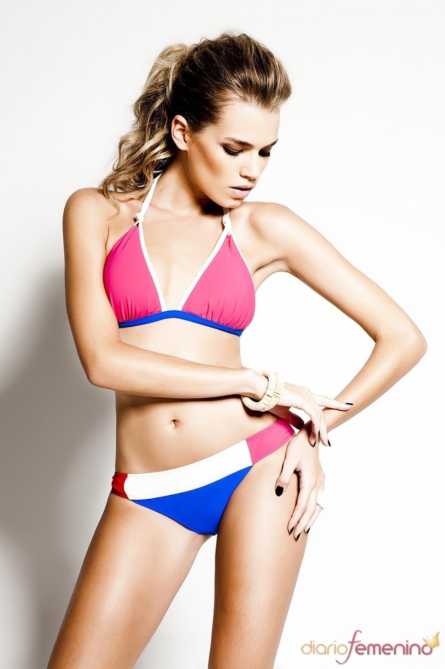 Bikini bicolor forma triangulo de R&S Fashion