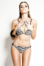 Bikini estampado de zebra de R&S Fashion