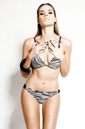 Bikini estampado de zebra de R&S Fashion