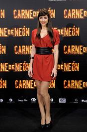 Miriam Hernández en la presentación de 'Carne de Neón'