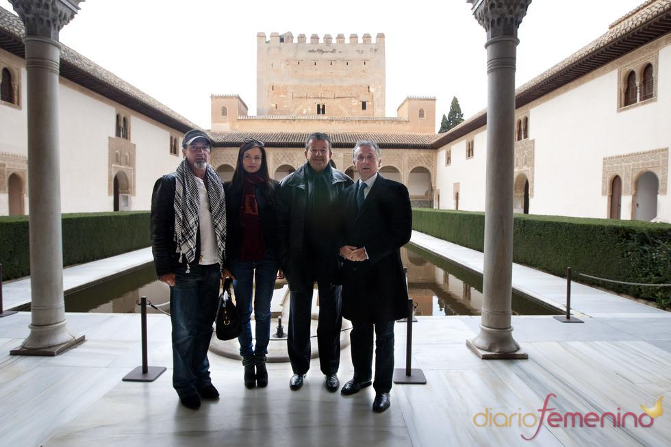Antonio Banderas visita La Alhambra