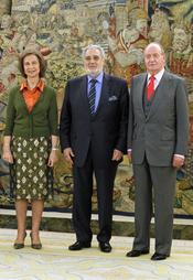 Los Reyes reciben a Plácido Domingo en el Palacio de la Zarzuela