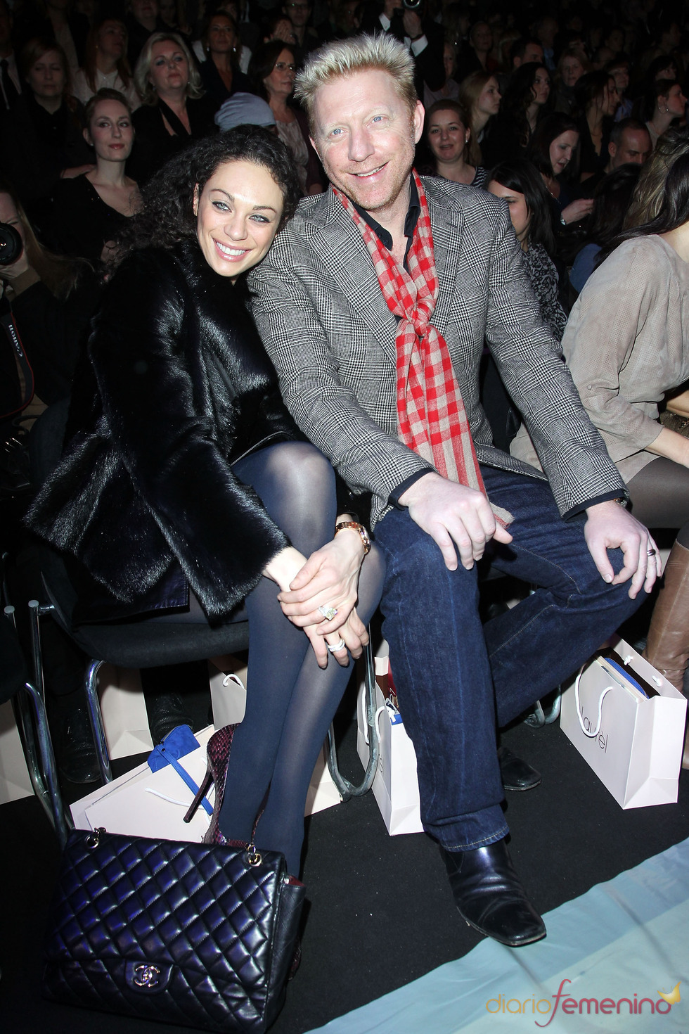 Boris Becker y su mujer Sharely Becker en la Berlín Fashion Week 2011