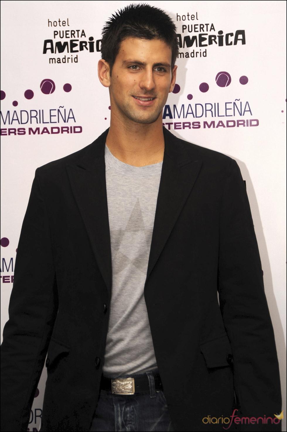 Novak Djokovic en la fiesta 'Masters Series Madrid' 2008