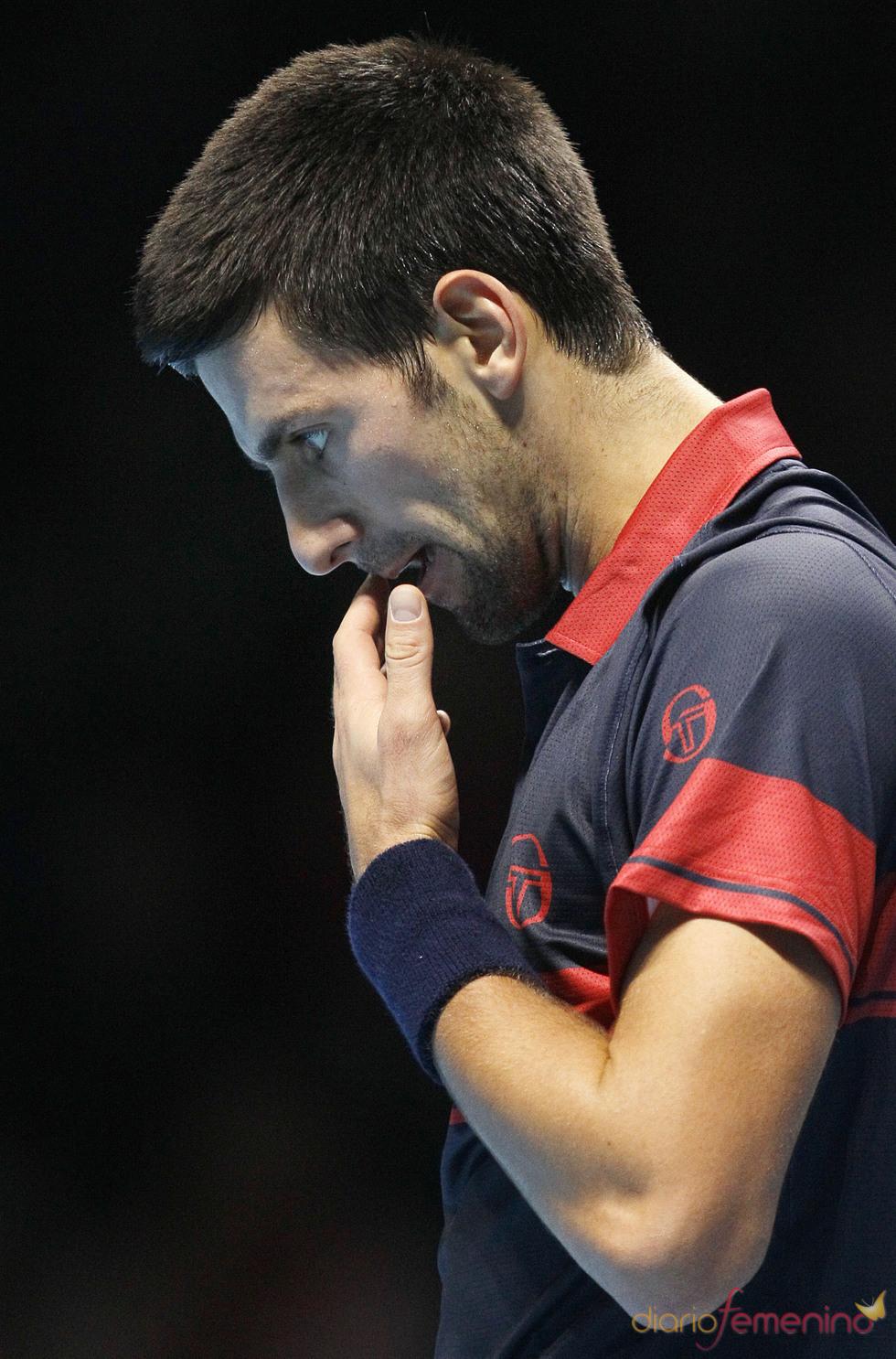Novak Djokovic, concentrado durante un partido