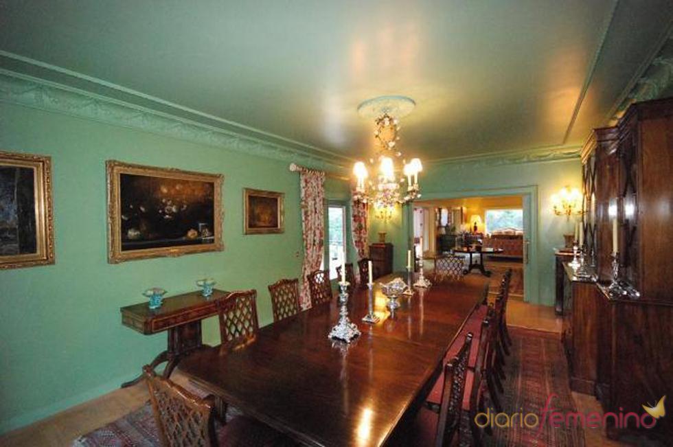 salón comedor de la posible futura mansión de Fernando Alonso y Raquel del Rosario