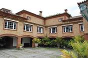Patio de la posible futura mansión de Fernando Alonso y Raquel del Rosario