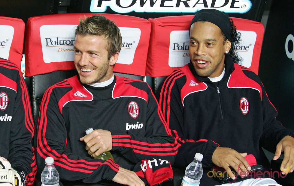 Ronaldinho y David Beckham juntos