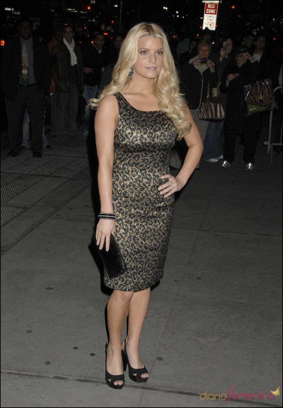 Jessica Simpson en la piel del leopardo