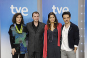 Marta Belaustegui, Fernando Cayo, Lucía Jímenez y Raúl Peña, actores de 'La República'