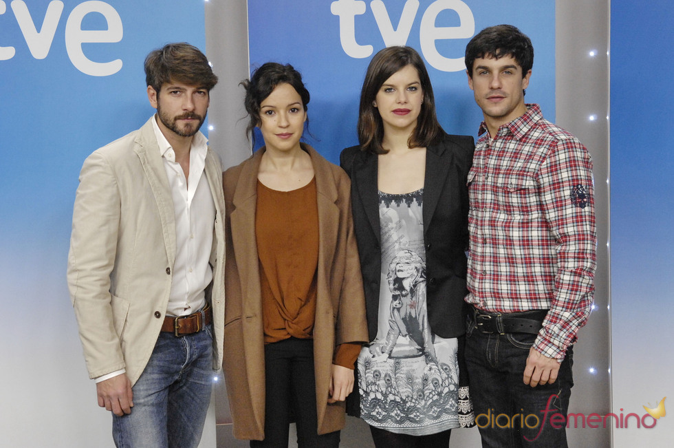 Actores de 'La República': Félix Gómez, Vernonica Sanchez, Mariona Ribas y Alejo Sauras