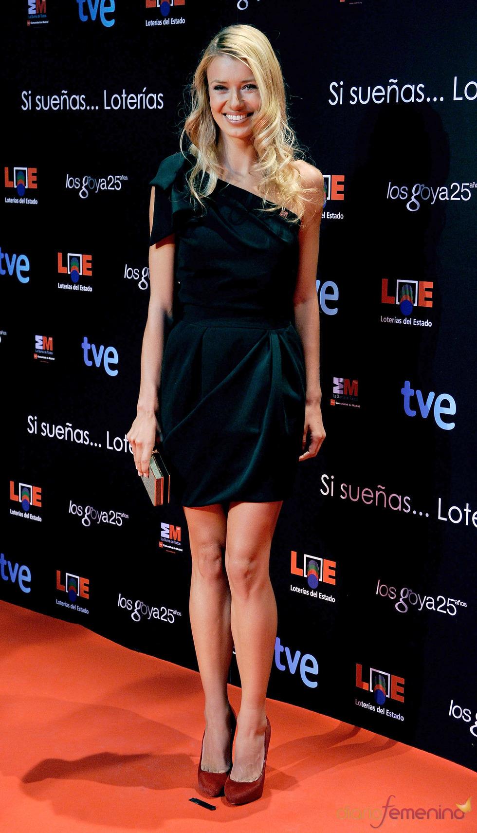 Natasha Yarovenko en la presentación de nominados a los Goya 2011