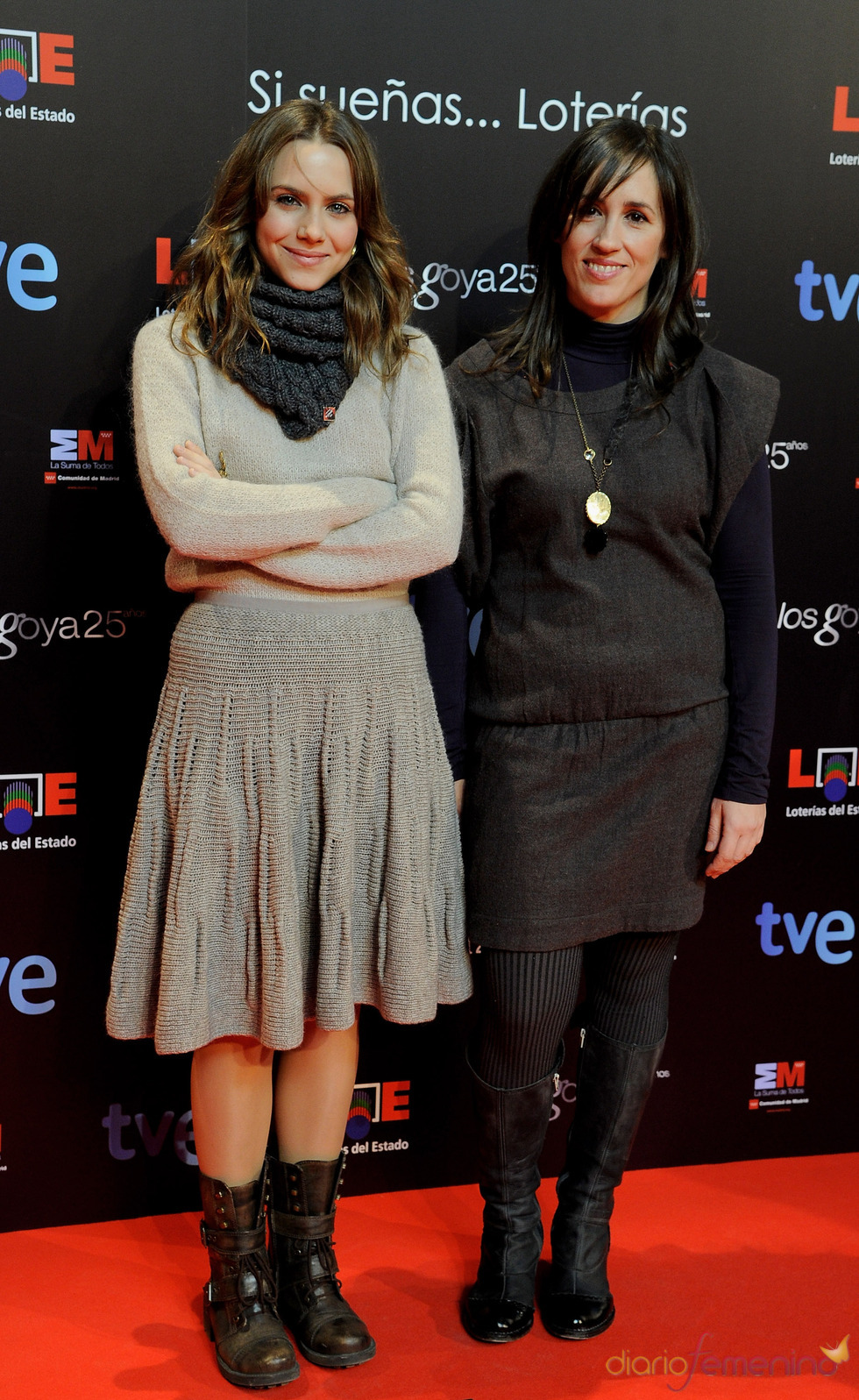 Aura Garrido en la presentación de nominados a los Goya 2011