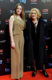Carolina Bang y Terele Pávez en la presentación de nominados a los Goya 2011