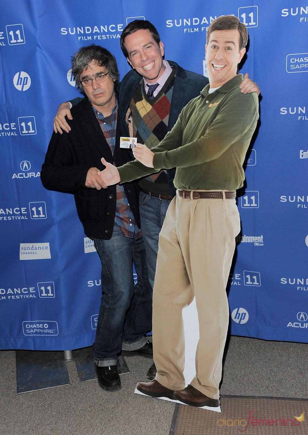 Miguel Arteta y Ed Helms en el Festival de Cine Sundance 2011