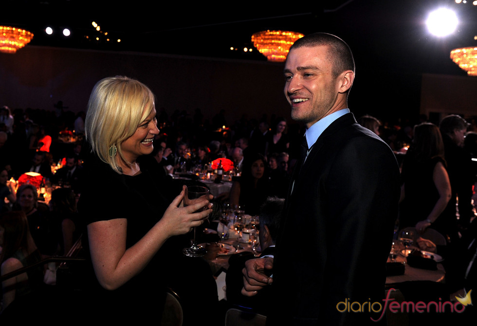 Justin Timberlake y Amy Phoeler en los Annual Producers Guild Awards 2011