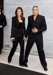 George Clooney y Elisabetta Canalis