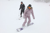 Elsa Pataky haciendo snow