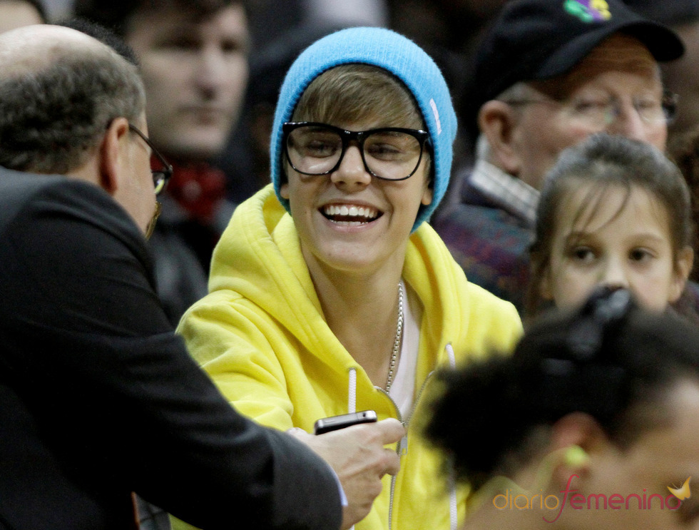 Justin Bieber con un look peculiar