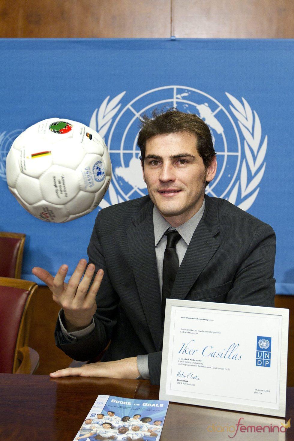 Iker Casillas, embajador de PNUD