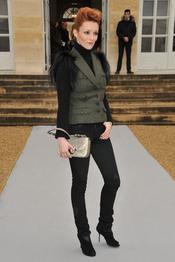 Audrey Marnay en el desfile de Christian Dior en París