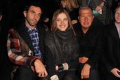 Natalia Vodianova, Riccardo Tisci, y Mario Testino en el desfile de Etam en París