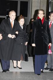Las Infantas Elena y Margarita y el duque de Soria en la ópera