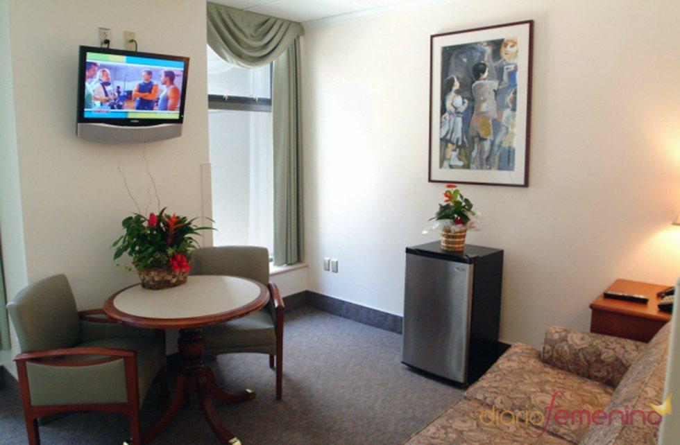 Otra sala de estar de la habitación de Penélope Cruz en el hospital Cedars Sinai