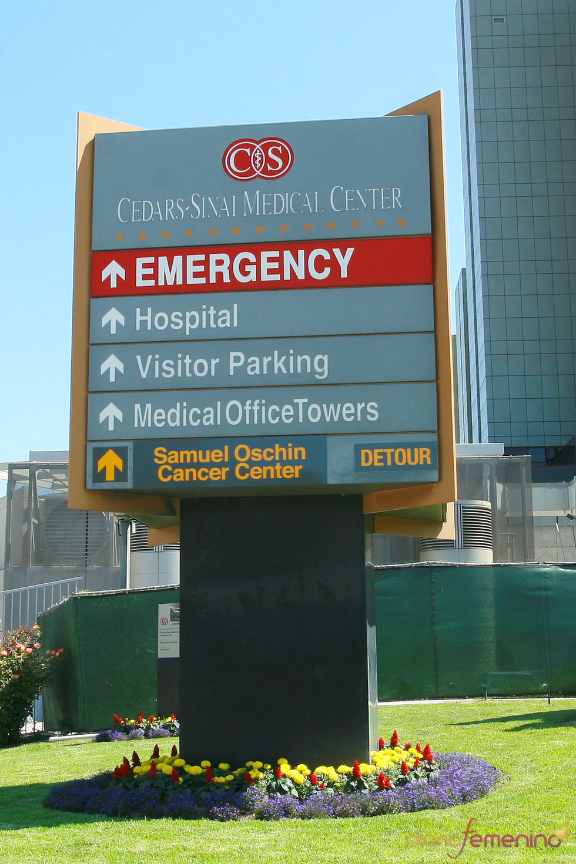 Cartel del hospital Cedars Sinai de Los Angeles