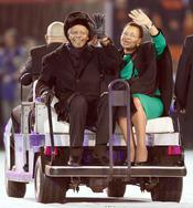 Nelson Mandela con su mujer durante el Mundial de Sudáfrica