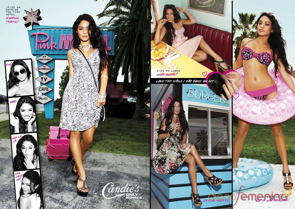 Vanessa Hudgens muy sensual en la campaña de Candie's 2011