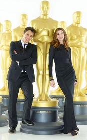 Anne Hathaway y James Franco, flamantes presentadores de los Oscar 2011