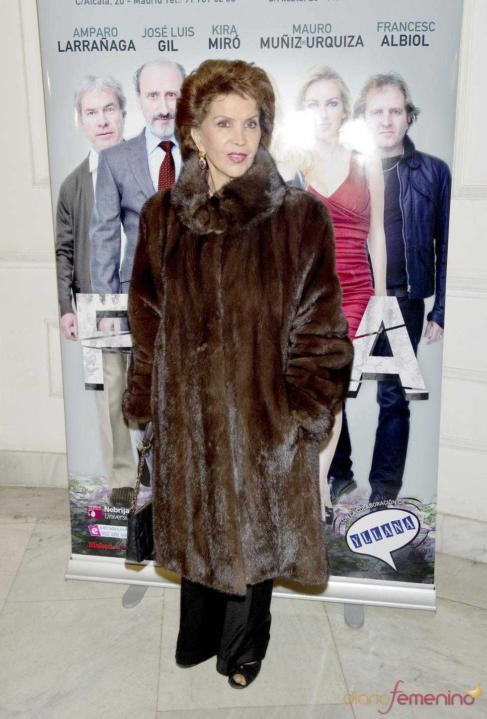 Maria Rosa acude al estreno de la obra de teatro 'Fuga'