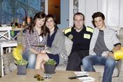 Andrea Ros, Nacho Montes, Antonio Molero y Malena Alterio en 'Buen agente'