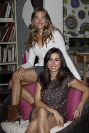 Carmen Ruiz y Patricia Montero en la presentación de 'Buen agente'