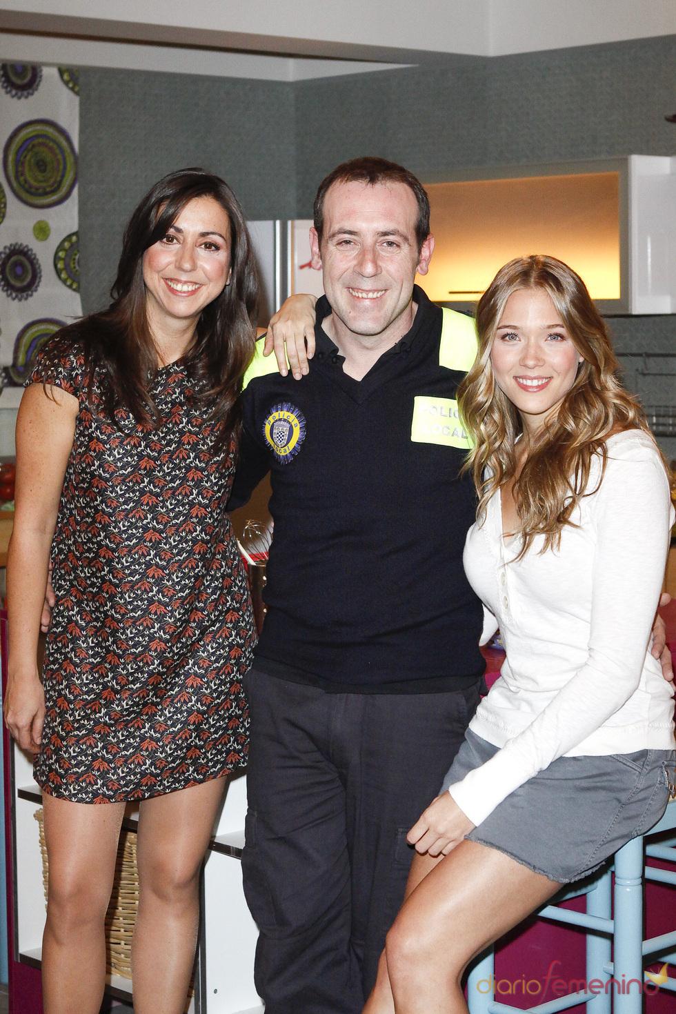Antonio Molero, Patricia Montero y Carmen Ruiz en 'Buen agente'