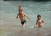 Toni Cantó con sus hijos Carlota y Lucas en 2005