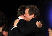 Colin Firth y Tom Hooper en los Premios del Sindicato de Directores 2011