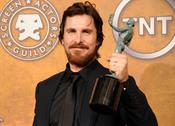 Christian Bale, con el premio a Mejor actor de Reparto del Sindicato de Actores