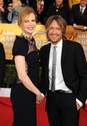 Nicole Kidman y Keith Urban en los Premios del Sindicato de Actores