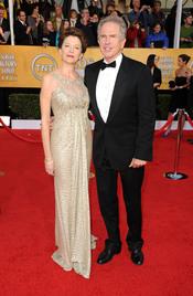 Annette Benning y Warren Beatty en los Premios del Sindicato de Actores