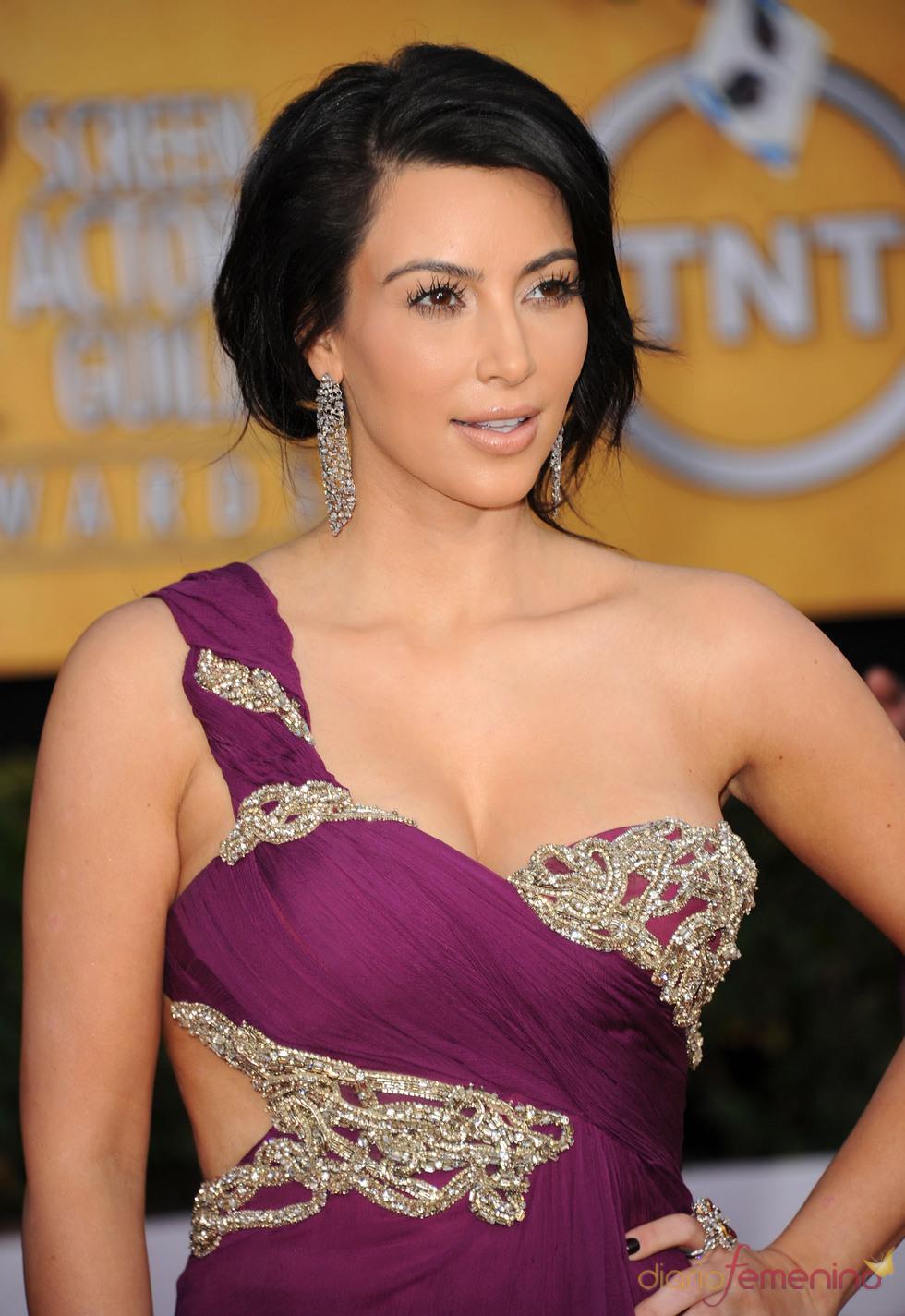 Kim Kardashian en la alfombra roja de los premios del Sindicato de Actores