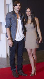 Ashton Kutcher y Demi Moore en la Semana de la Moda de Sao Paulo