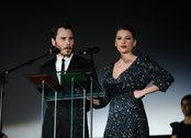 Los actores Miriam Giovanelli y Rubén Ochandiano