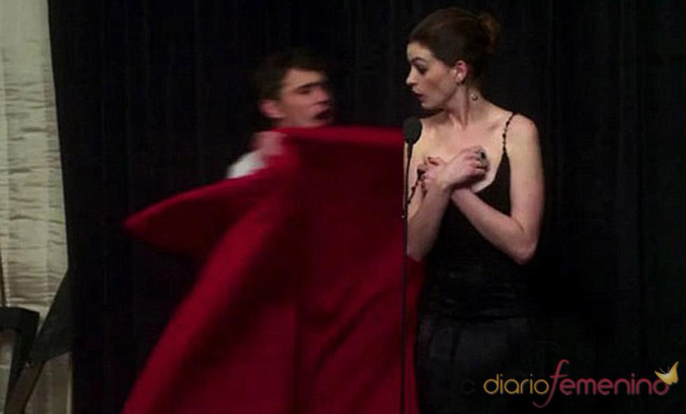 James Franco y Anne Hathaway ensayan duramente para los Oscars 2011