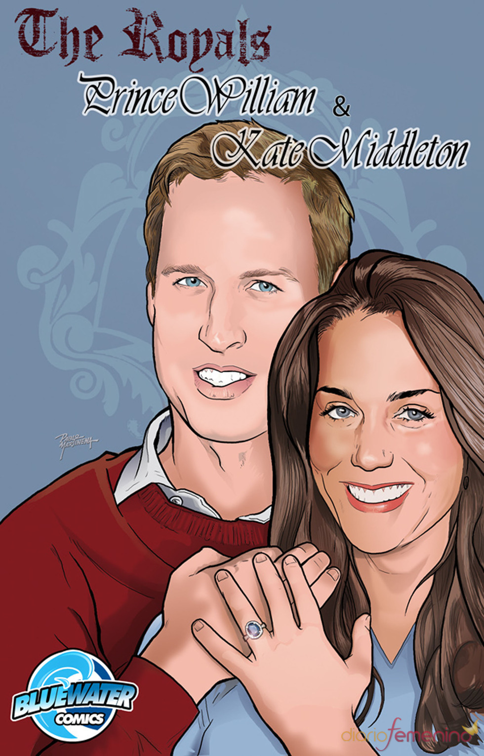 Kate Middleton y Guillermo de Inglaterra, ahora en comic