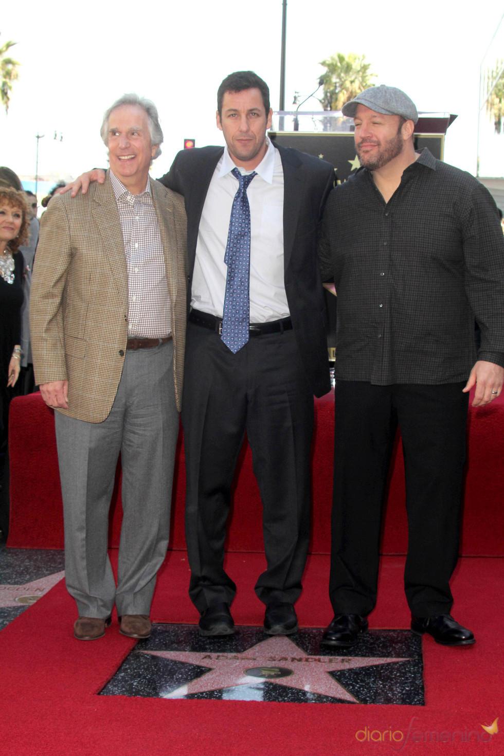 Adam Sandler con su Estrella de Hollywood