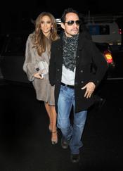 Jennifer López reaparece junto a su marido Marc Anthony