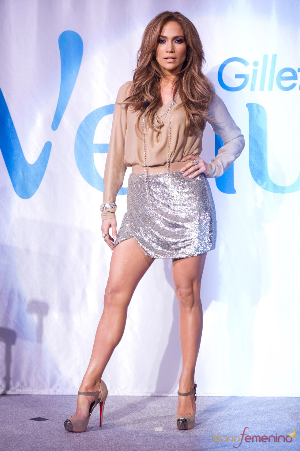 Jennifer López, radiante como imagen de Gillette Venus