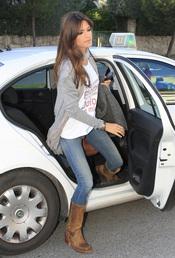 Sara Carbonero vuelve a casa después de trabajar